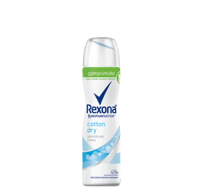 Rexona antitranspirante en aerosol comprimido Cotton 85ml