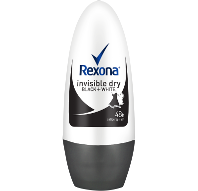Rexona Women Invisible Dry Black + White Roll-on Antiperspirant Deodorant 50ml