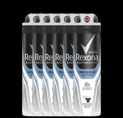 Rexona Invisible Ice Aerosol Anti-transpirant voor mannen 150ml 6x