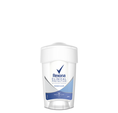 Rexona Women Clinical Protection Shower Clean Soft Solid Antiperspirant Deodrant 45ML