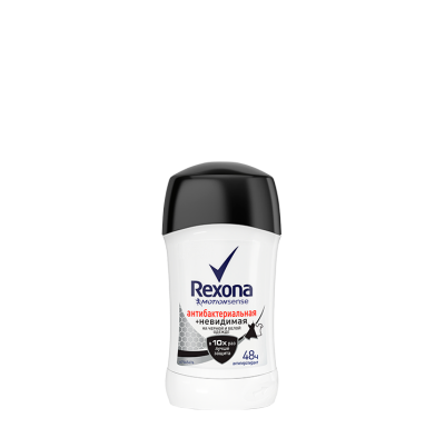 Rexona antibacterial and invisible stick deodorant